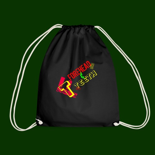 forehead and teeth full design - Drawstring Bag