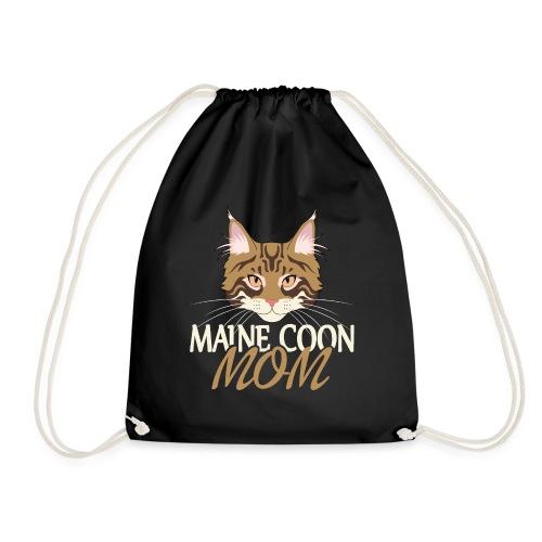 Maine Coon Katze Geschenk für Frau Coonie - Turnbeutel