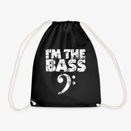 I'm the Bass Vintage White - Turnbeutel