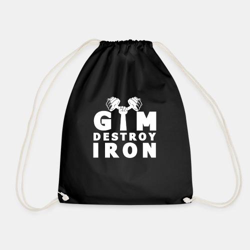 GYM Fitness Motivation - Destroy IRON Training - Turnbeutel