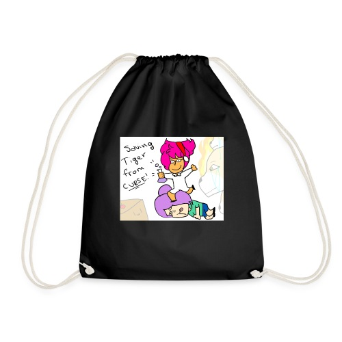 Saving Tiger Toast From Curse! - Drawstring Bag