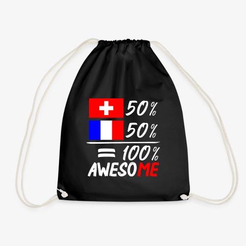 50% Schweiz 50% Frankreich - Turnbeutel