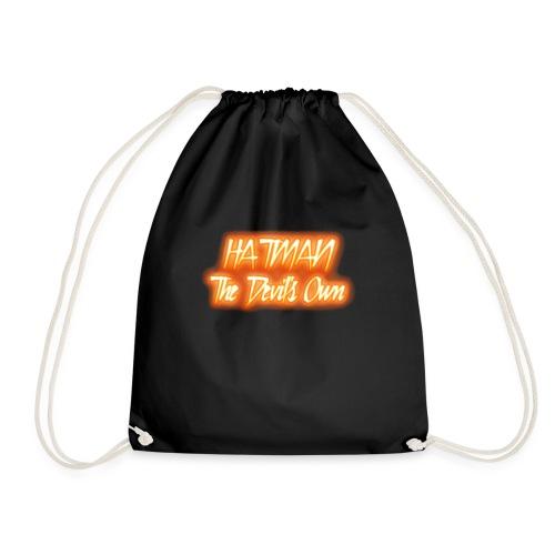 hatman devilsown text - Drawstring Bag