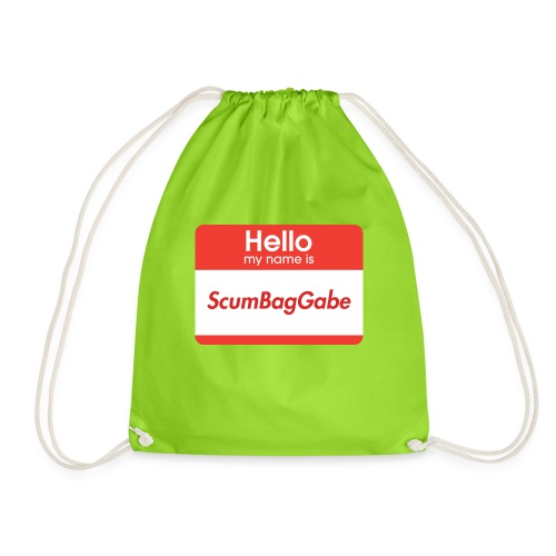 Hello My Name Is ScumBagGabe - Drawstring Bag