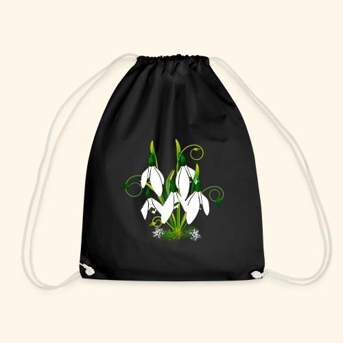 Schneeglöckchen, Blumen, Blüten, floral, Ornamente - Turnbeutel