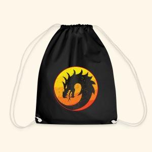 Flaming Dragon Retro - Drawstring Bag