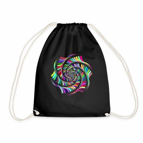 Prismatic Hexagonal Art 2 - Drawstring Bag