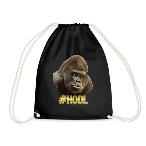 Gorilla #HODL Gold - Turnbeutel