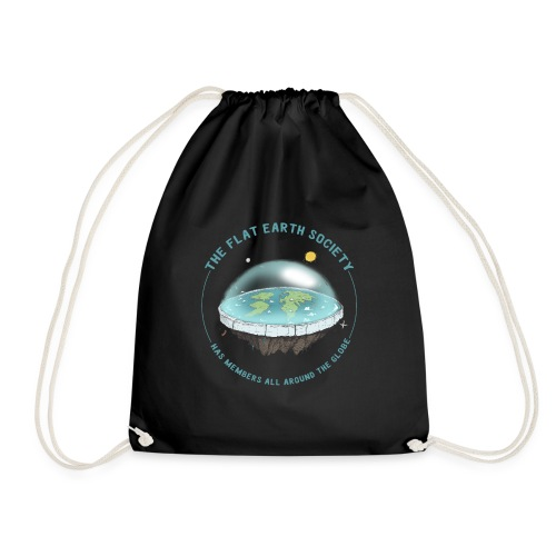flat earth threadless - Drawstring Bag