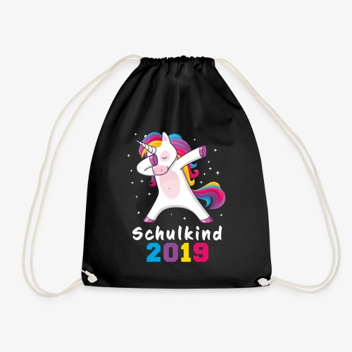 Einschulung Schulkind 2019 Dabbing Einhorn - Turnbeutel