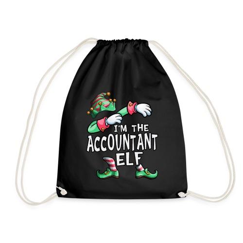 I'm The Accountant Elf Dabbing Christmas Family - Drawstring Bag