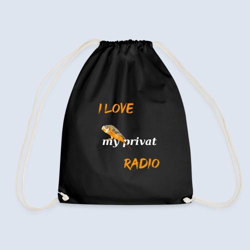 Wellensittich mein privates Radio - Turnbeutel