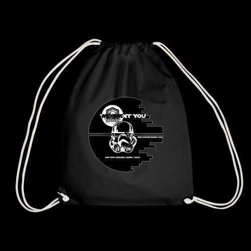 DarkSide Gaming We Want You Death Star Logo - Drawstring Bag