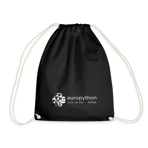 EuroPython 2020 - White Logo - Drawstring Bag