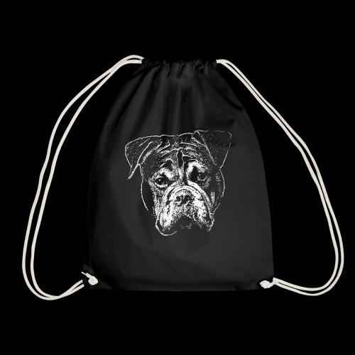 Continental Bulldog Kopf Weiss-BOBBY - Turnbeutel