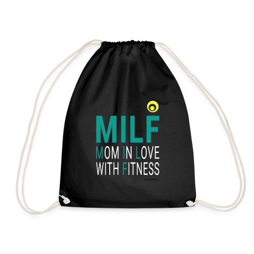 MILF Mom in love with fit - Drawstring Bag