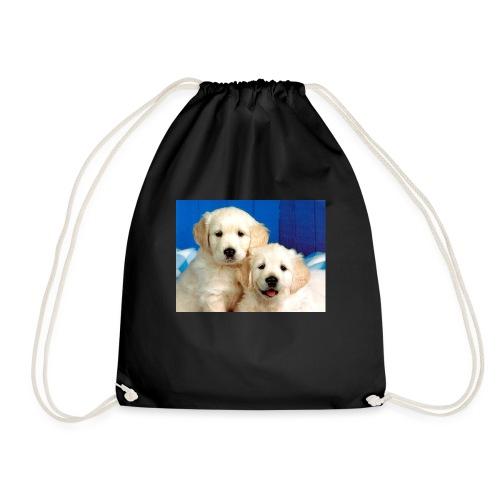 Golden labs pups - Drawstring Bag
