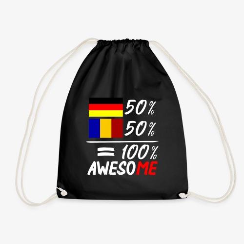 50% Deutsch 50% Rumänisch - Turnbeutel