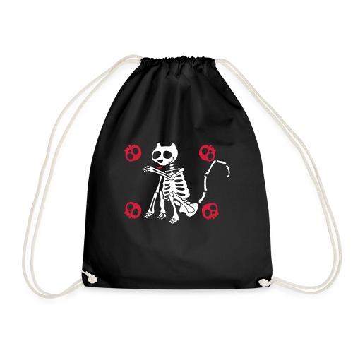 Katzen Skelett - Turnbeutel