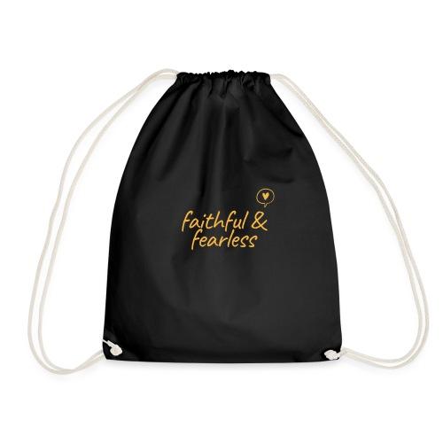 Faithful & Fearless - Drawstring Bag