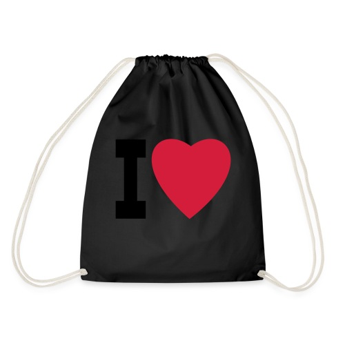 create your own I LOVE clothing and stuff - Drawstring Bag