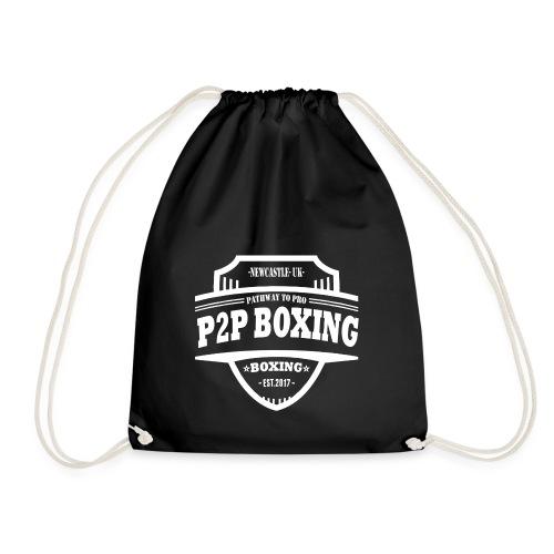 P2P Boxing White Logo - Drawstring Bag