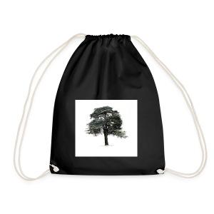 cool cedar tree - Drawstring Bag