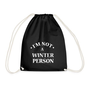 I´m not a winter person - Turnbeutel