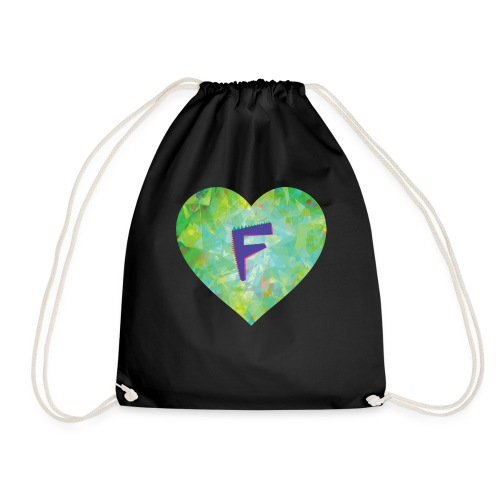 F follows fabulous family fun facts furiously - Drawstring Bag