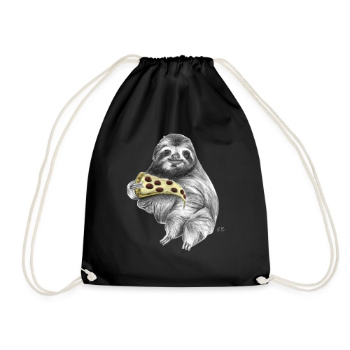 Slot Eating Pizza - Drawstring Bag