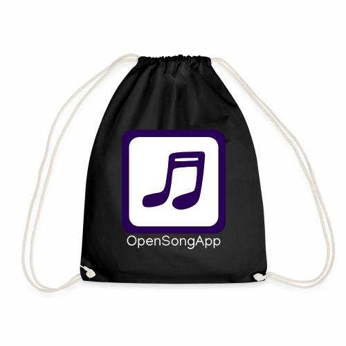 OpenSongApp Square Text - Drawstring Bag
