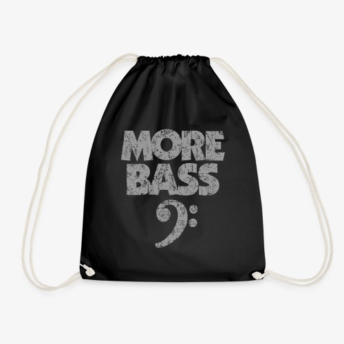 More Bass (Vintage/Grau) Bassisten - Turnbeutel