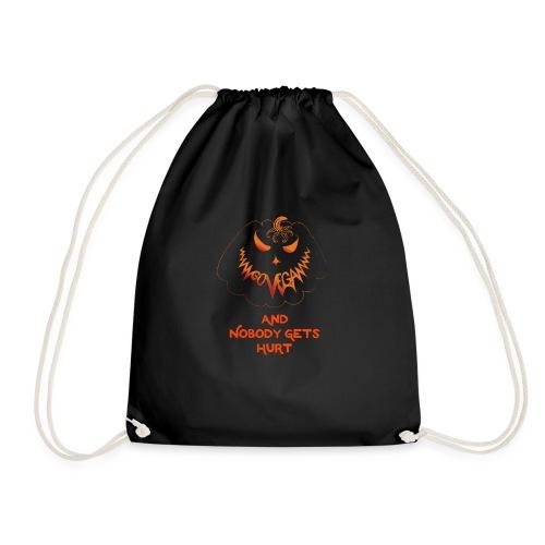 go vegan and nobody gets hurt Halloween - Drawstring Bag