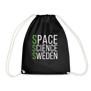 Space Science Sweden - vit - Gymnastikpåse