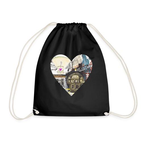 helsinkiheart png - Drawstring Bag