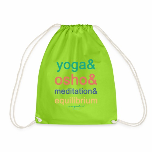 Yoga& Osho& Meditation& Equilibrium - Drawstring Bag