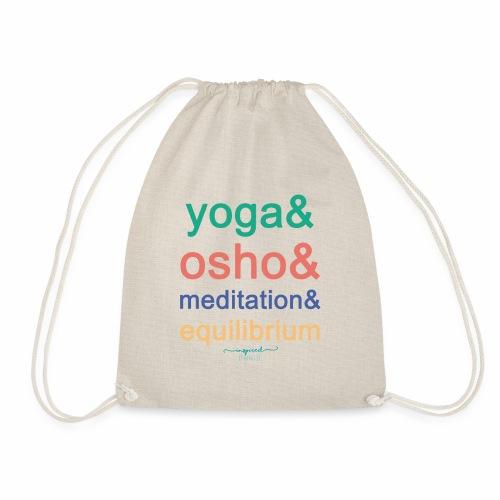 Yoga& Osho& Meditation& Equilibrium - Drawstring Bag