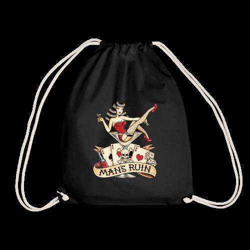 MARTINI GIRL TATTOO - Drawstring Bag