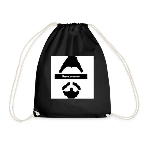 Biturzartmon Logo schwarz/weiss asiatisch - Turnbeutel