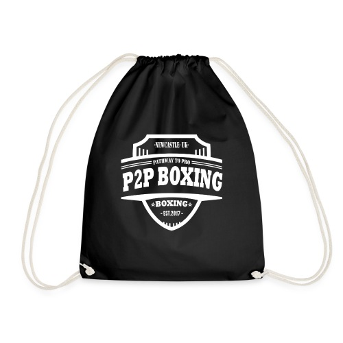 P2P Boxing White Logo - Drawstring Bag