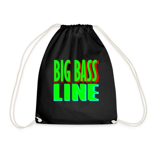 big bass line line - Drawstring Bag