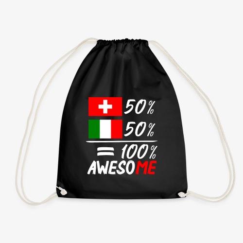 50% Schweiz 50% Italien - Turnbeutel