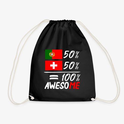 50% Portugal 50% Schweiz - Turnbeutel