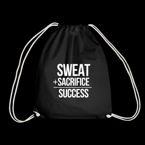 Erfolg Motivation Fitness T-shirt Englisch - Turnbeutel