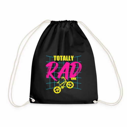 BMX Totally Rad Retro Vintage 80's Bmx Bike Cycle - Drawstring Bag