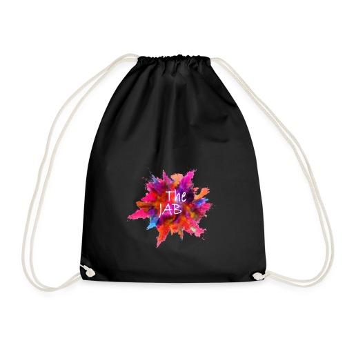 The JAB Splash White - Drawstring Bag
