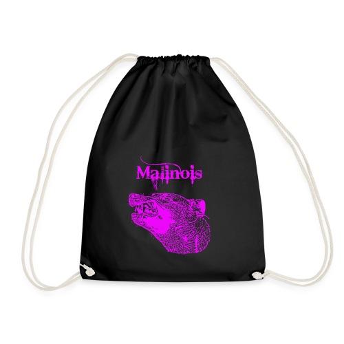 Malinois Zaehne pink - Turnbeutel