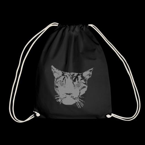 Katzenkopf grau - Turnbeutel