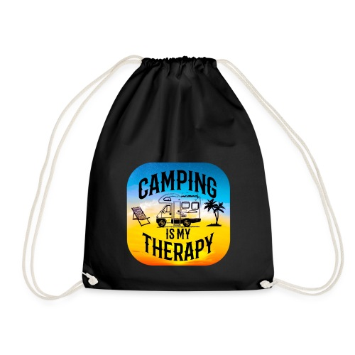 camping is my therapy - Turnbeutel