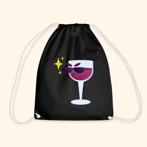 Cool wine - Drawstring Bag